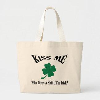 Kiss Me I'm Irish Jumbo Tote Bag