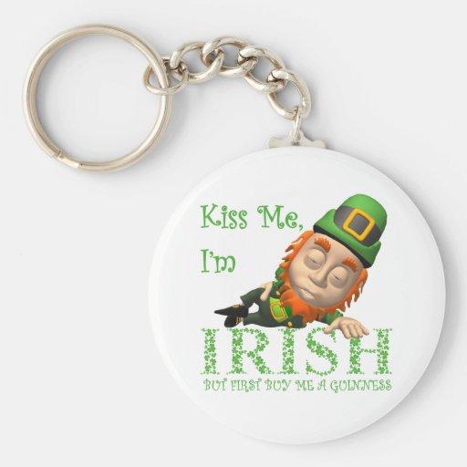 Kiss Me I'm Irish Key Chains