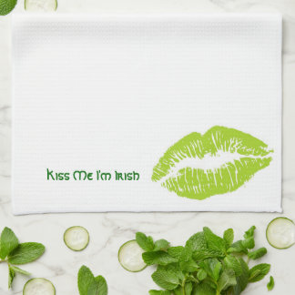 Kiss Me I'm Irish Kitchen Towels