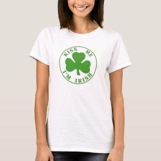 Kiss Me Im Irish ladies T-Shirt
