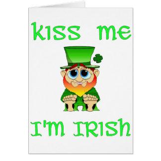 Kiss Me Im Irish ~ Lil Blarney Greeting Card