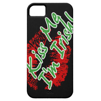 Kiss Me I'm Irish Lips (black) Case For The iPhone 5