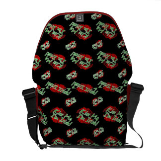 Kiss me I'm Irish Lips (Black) Messenger Bag