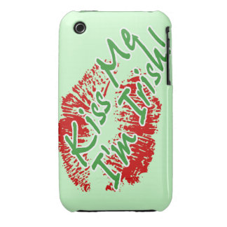 Kiss Me I'm Irish Lips Case-mate iPhone 3 case