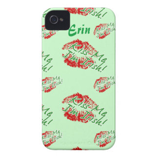 Kiss me I'm Irish Lips (Green) iPhone 4 case