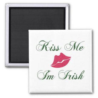 Kiss Me Im Irish-lips Fridge Magnets