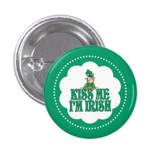 Kiss Me I'm Irish Little Leprechaun Button
