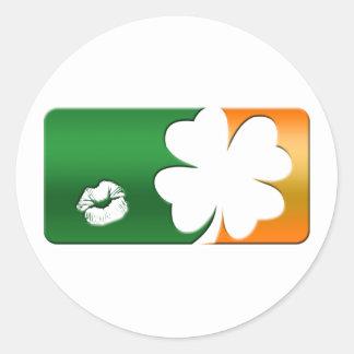 Kiss Me I'm Irish Logo Stickers