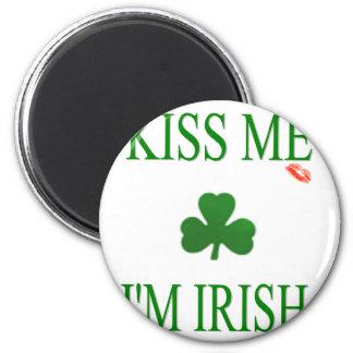 Kiss Me Im Irish Fridge Magnets