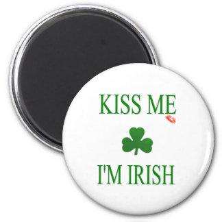 Kiss Me Im Irish Refrigerator Magnet