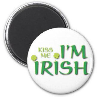 Kiss Me Im Irish Refrigerator Magnets