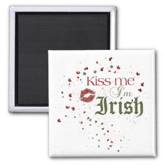 Kiss Me Im Irish Square Magnet