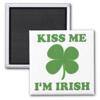 Kiss me i'm Irish Square Magnet