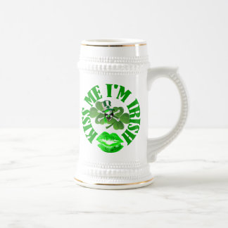 kiss me I'm Irish 18 Oz Beer Stein