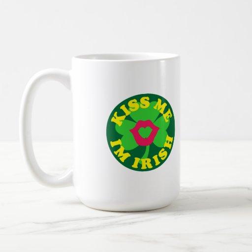 Kiss me im Irish Mugs