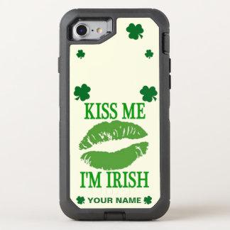 KISS ME I'M IRISH OtterBox DEFENDER iPhone 8/7 CASE