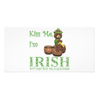 KISS ME I'M IRISH PHOTO CARDS