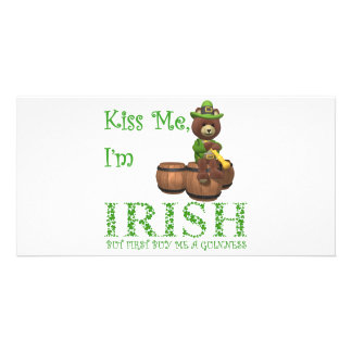 KISS ME I'M IRISH PICTURE CARD