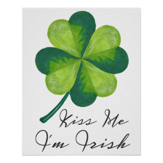 Kiss Me I'm Irish Poster