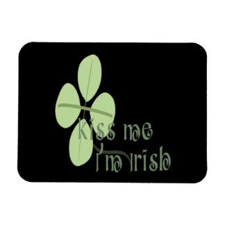 Kiss Me Im Irish Rectangular Magnet