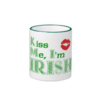 Kiss me, Im Irish Ringer Mug
