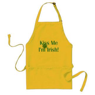 Kiss Me I'm Irish Shamrock Standard Apron