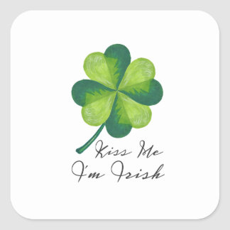 Kiss Me I'm Irish Square Sticker