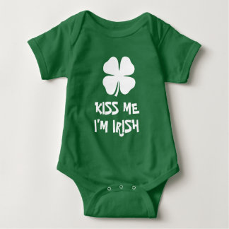 Kiss Me I'm Irish St Patricks Day baby jumpsuit