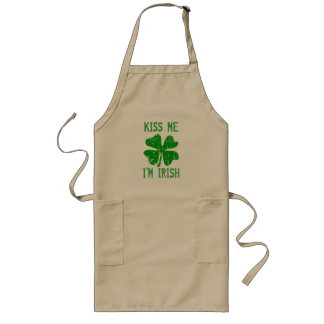 KISS ME IM IRISH St Patricks Day BBQ kitchen apron