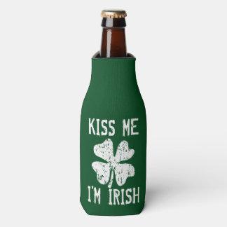 KISS ME I'M IRISH St Patricks Day bottle coolers