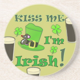 Kiss Me I'm Irish - St Patricks Day Drink Coasters