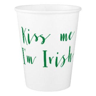 Kiss Me Im Irish St Patricks Day Paper Cups