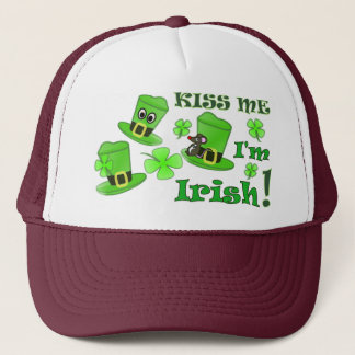 Kiss Me I'm Irish - St Patricks Day Trucker Hat