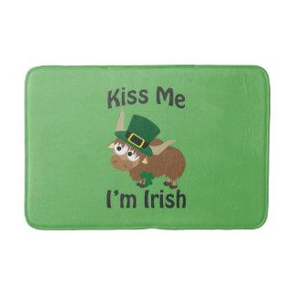 Kiss Me Im Irish St Patricks Day Yak Bath Mats
