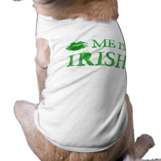 Kiss Me I'm Irish St. Patty's Day Sleeveless Dog Shirt