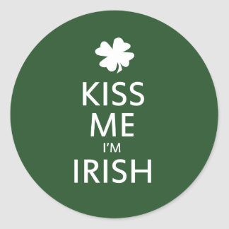 Kiss me Im Irish Round Sticker