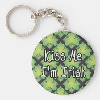 Kiss Me I'm Irish Swag Key Chain