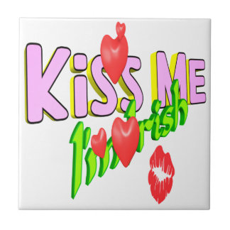Kiss Me Im Irish Tile