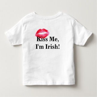 Kiss Me I'm Irish Toddler shirt