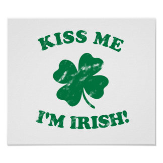 Kiss me I'm Irish Vintage Poster