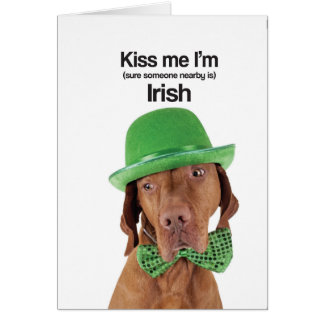 Kiss Me I'm Irish (Vizsla) - Greeting Card