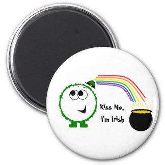 Kiss Me, I'm Irish Weeble Magnet