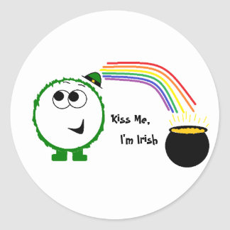 Kiss Me, I'm Irish Weeble Sticker