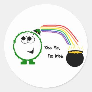 Kiss Me, I'm Irish Weeble Sticker