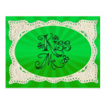 KISS ME I'M IRISH with LACE by SHARON SHARPE Post Cards