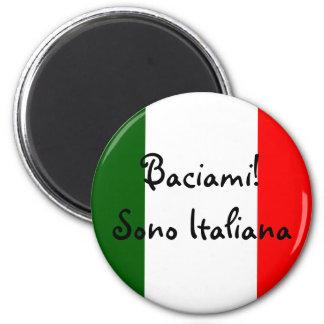 Kiss Me! I'm Italian 6 Cm Round Magnet