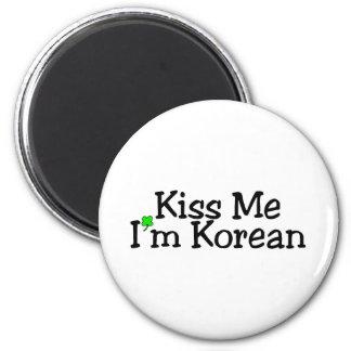 Kiss Me Im Korean 6 Cm Round Magnet