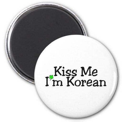 Kiss Me Im Korean Refrigerator Magnet