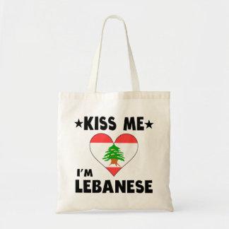 Kiss Me I'm Lebanese Budget Tote Bag