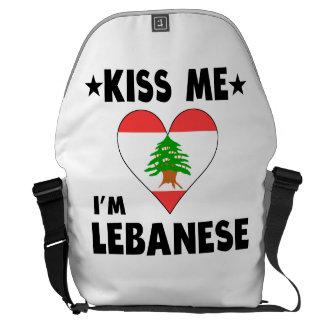 Kiss Me I'm Lebanese Courier Bag